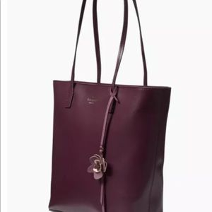 Kate Spade Felicity Leather Tote in Deep Plum